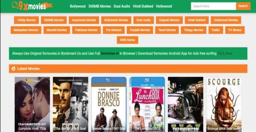 9xmovies 2020 : Bollywood Hollywood hd movie free download