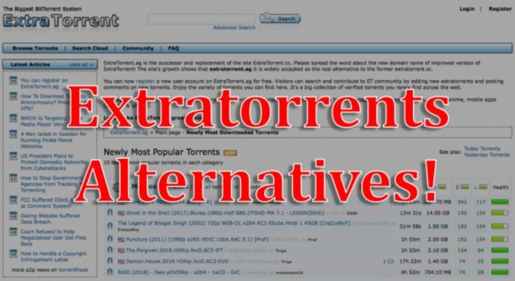 ExtraTorrents Alternative: Best Safe and Reliable Torrent Sites