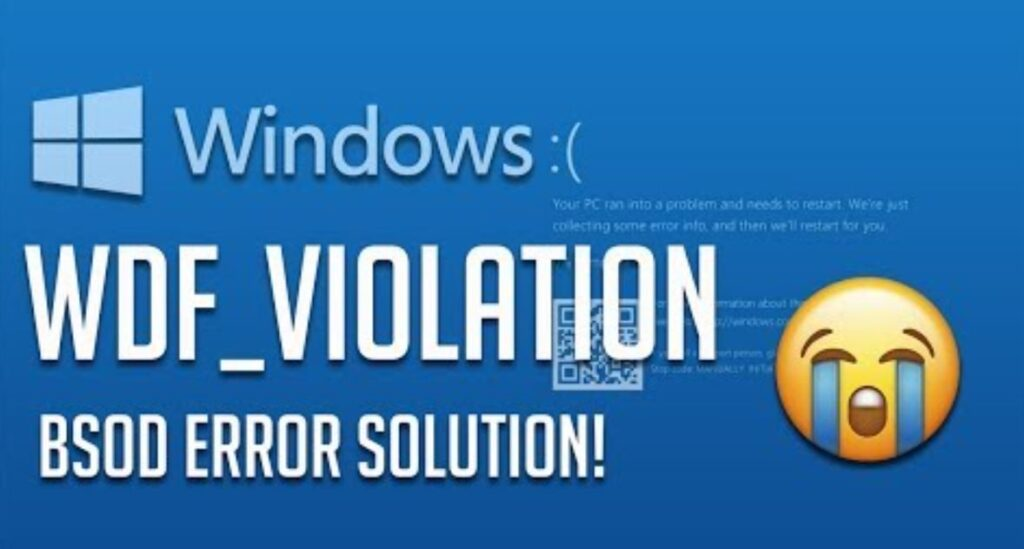 How to fix WDF_VIOLATION BSOD error in Windows 10