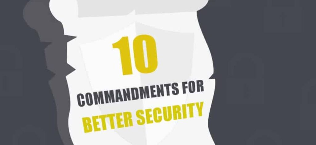 10 cybersecurity commandments for companies and workers